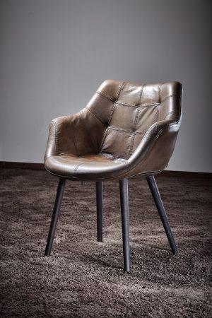 Stuhlsessel Esszimmer hochwertig Büffelleder Holzbeine Esszimmerstuhl große Auswahl Lederfarben Lenne