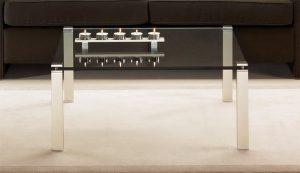 Couchtisch Metall Glas hochwertig schlichte Formgebung Anfertigung nach Maß in Deutschland