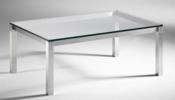 Couchtisch modern ausgefallen exklusiv CUBUS rechteckig 30200 Glas Metall