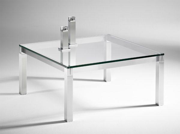 Couchtisch Glas edel Aluminium Maßanfertigung im Sauerland