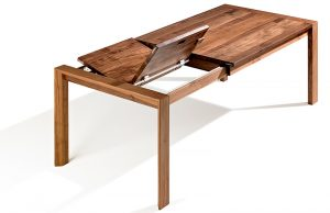Esstisch Massivholz ausziehbar Designer Nussbaum geölt