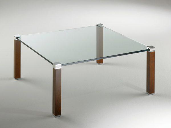 Couchtisch Glas Holz Metall hochwertig nach Maß Kirschbaum deutscher Hersteller 40250
