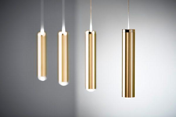 LED Pendelleuchte Messing matt hochwertige Fertigung nach Maß mehrflammig LED Messingleuchte LINNEA 4