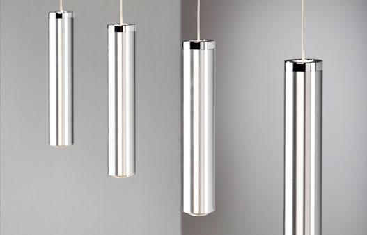 Pendelleuchte LED Aluminium Chrom hochwertige Hängeleuchte LED für Esszimmer Fertigung nach Maß LINNEA 4